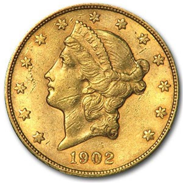 1902-S $20 Liberty Gold Double Eagle XF