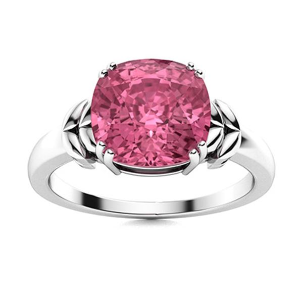 Natural 2.51 CTW Tourmaline Solitaire Ring 14K White Gold