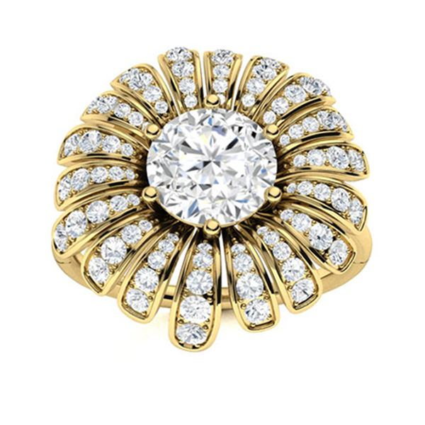 Natural 1.71 CTW Topaz & Diamond Engagement Ring 18K Yellow Gold