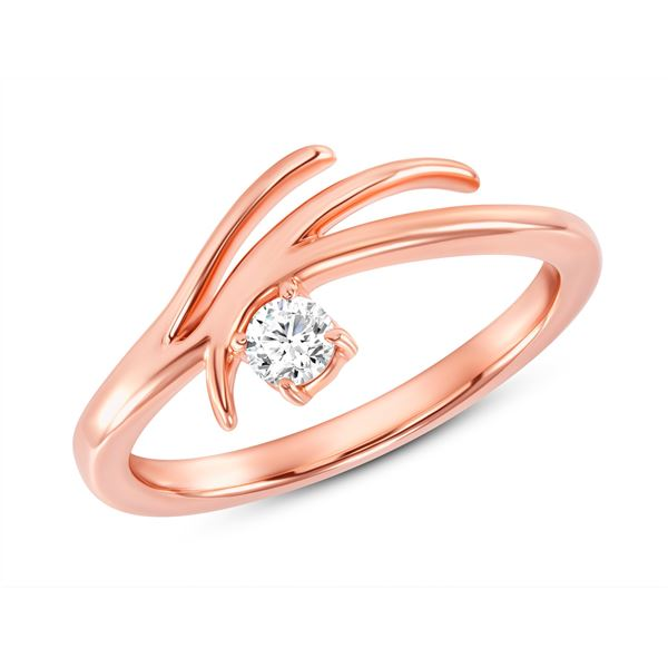 Natural 0.22 CTW Rose Tier Diamond Ring 18KT Rose Gold