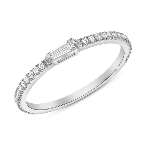 Natural 0.52 CTW Royalty Marquise & Round Diamond Ring 18KT White Gold