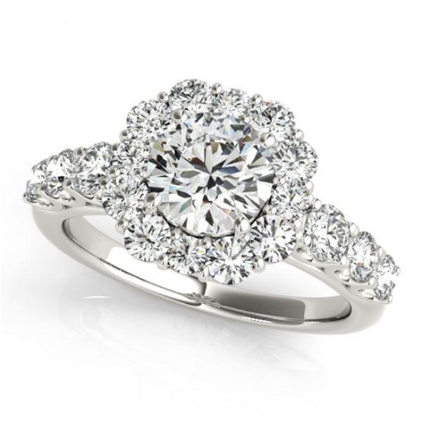 Natural 2.25 ctw Diamond Halo Ring 14k White Gold