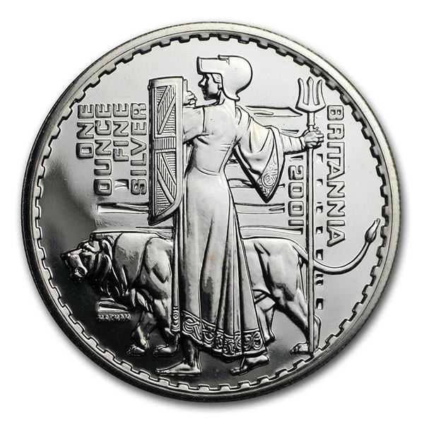 2001 Great Britain 1 oz Silver Britannia (Abrasions)