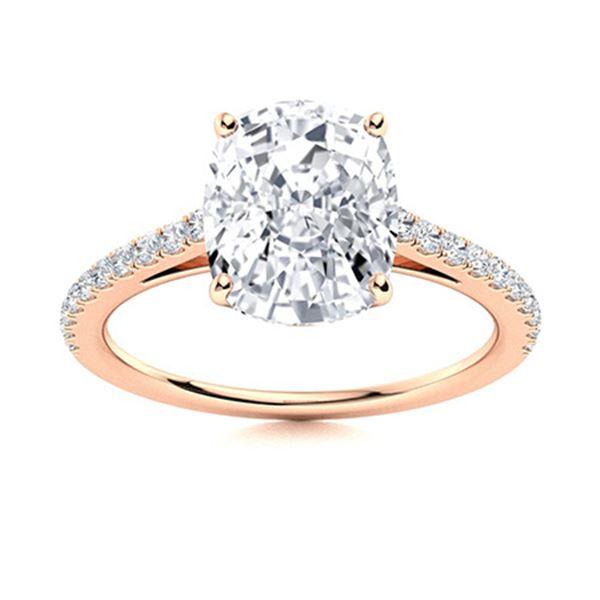Natural 3.86 CTW Topaz & Diamond Engagement Ring 18K Rose Gold
