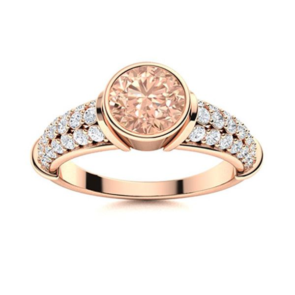 Natural 1.76 CTW Morganite & Diamond Engagement Ring 14K Rose Gold