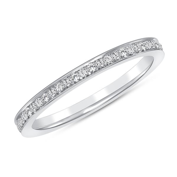 Natural 0.22 CTW Pave Diamond Ring 18KT White Gold