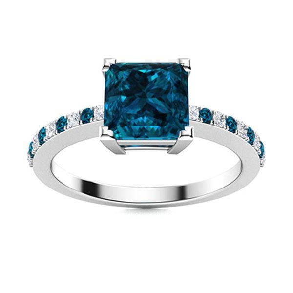 Natural 1.08 CTW Topaz & Diamond  Engagement Ring 18K White Gold