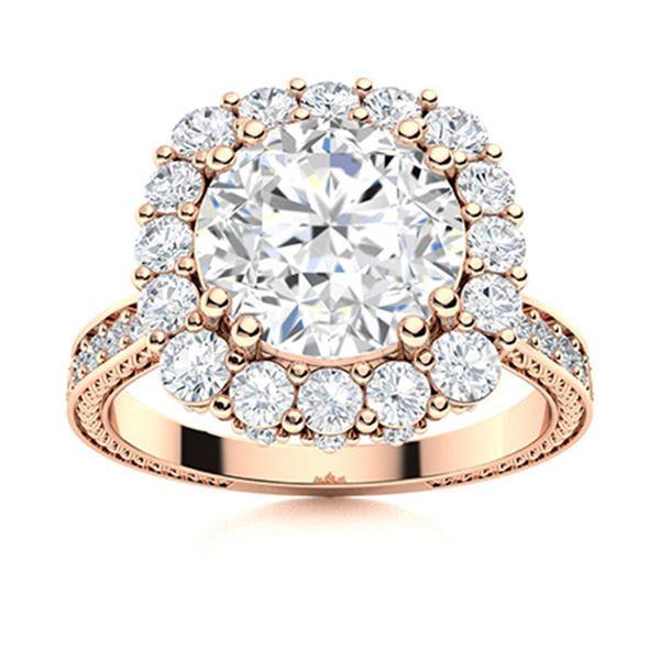 Natural 2.42 CTW Topaz & Diamond Engagement Ring 14K Rose Gold