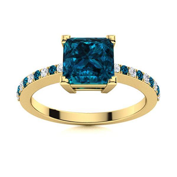 Natural 0.98 CTW Topaz & Diamond  Engagement Ring 14K Yellow Gold