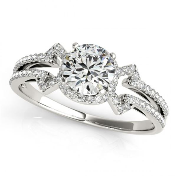 Natural 1.36 ctw Diamond Solitaire Ring 14k White Gold