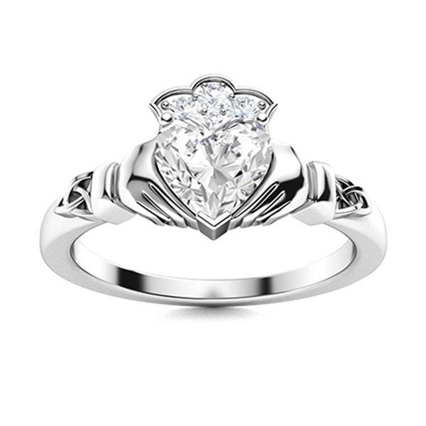 Natural 0.63 CTW Topaz & Diamond Engagement Ring 18K White Gold