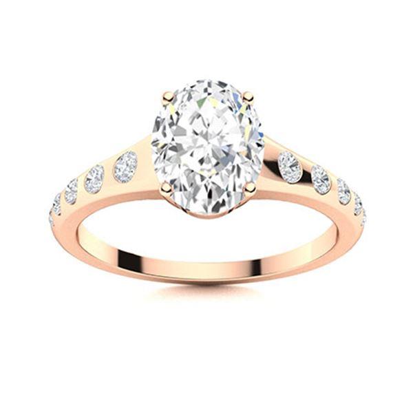 Natural 1.58 CTW Topaz & Diamond Engagement Ring 14K Rose Gold