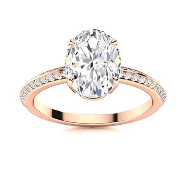 Natural 1.66 CTW Topaz & Diamond  Engagement Ring 14K Rose Gold