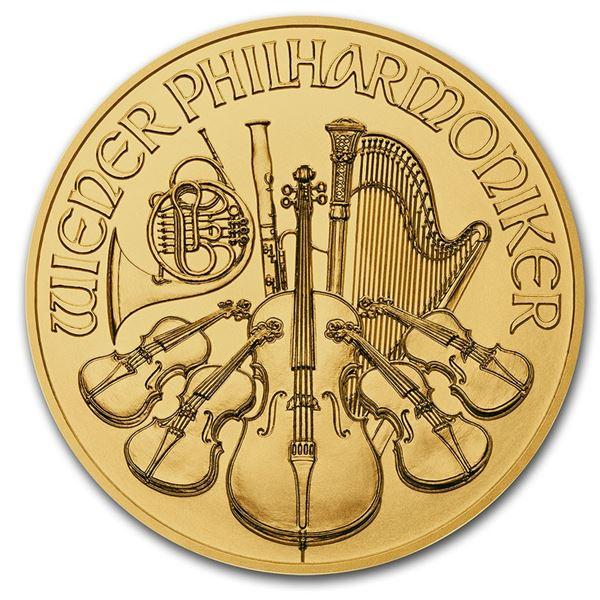 2020 Austria 1/4 oz Gold Philharmonic BU