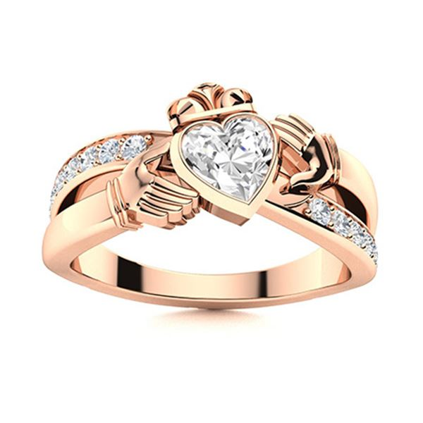 Natural 0.77 CTW Diamond Solitaire Ring 14K Rose Gold