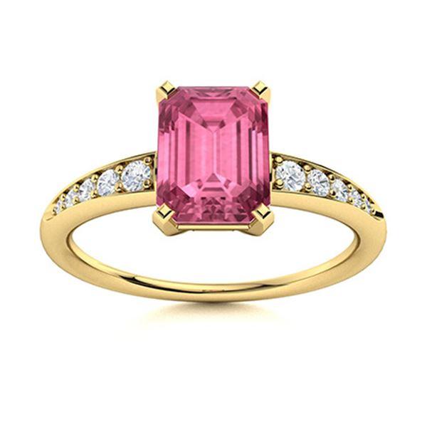 Natural 2.69 CTW Tourmaline & Diamond Engagement Ring 14K Yellow Gold