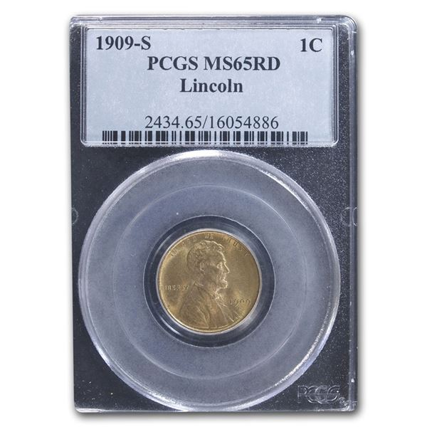 1909-S Lincoln Cent MS-65 PCGS (Red)