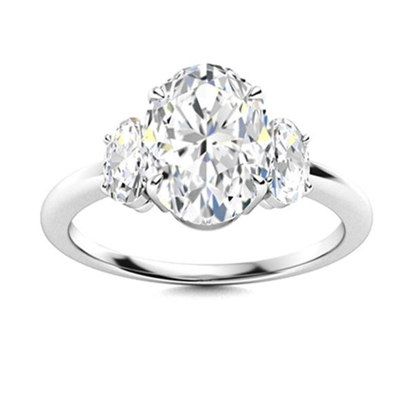 Natural 1.27 CTW Diamond Solitaire Ring 18K White Gold
