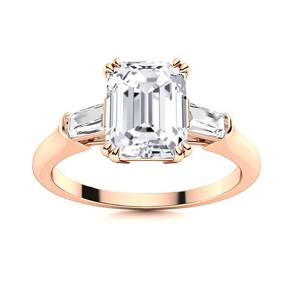 Natural 5.30 CTW Topaz & Diamond Engagement Ring 18K Rose Gold