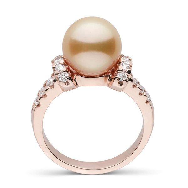 Golden South Sea Pearl and Diamond Bloom Cocktail Ring, 9.0-10.0mm