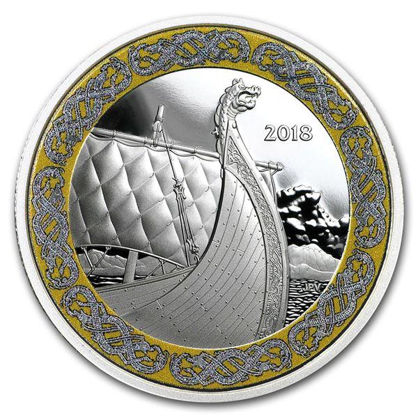 2018 Canada 1 oz Silver $20 Norse Figureheads: Dragon's Sail
