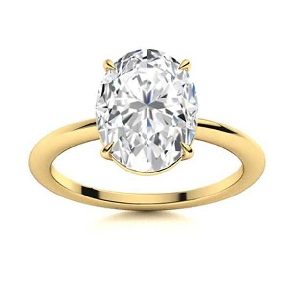 Natural 2.76 CTW Diamond Solitaire Ring 14K Yellow Gold