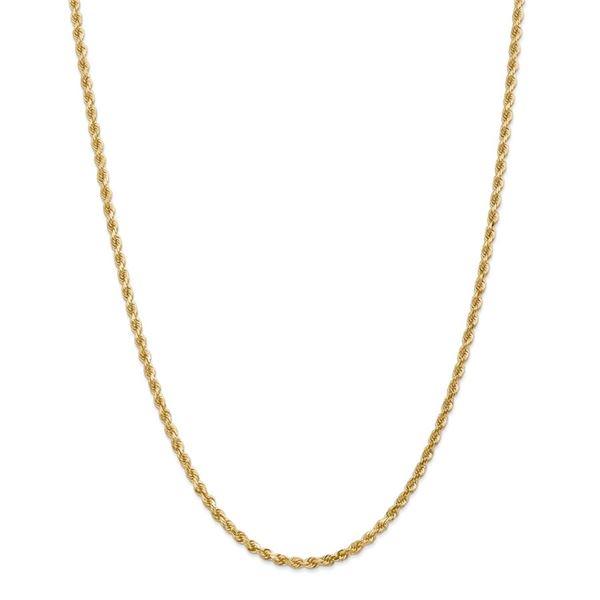14k Yellow Gold 3.20 mm Diamond Cut Rope Chain - 36 in.