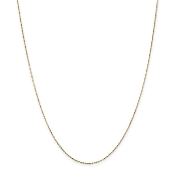 14k Yellow Gold .8 mm Diamond Cut Cable Chain - 22 in.
