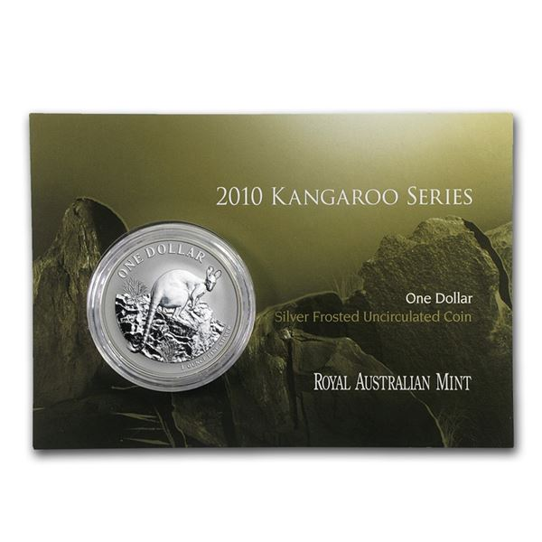 2010 Australia 1 oz Silver Kangaroo (In Display Card)