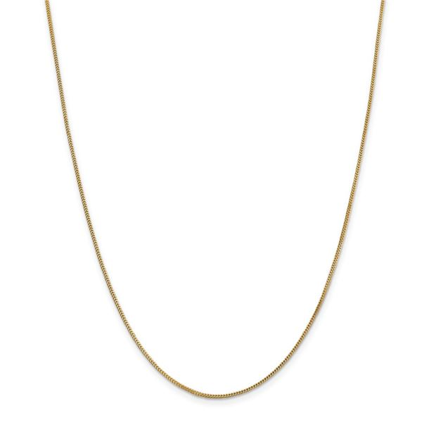 14k Gold .9 mm Solid Polished Franco Chain Necklace - 18 in.