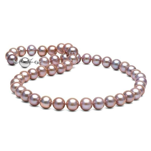 Lavender Freshwater Pearl Necklace, 8.5-9.0mm