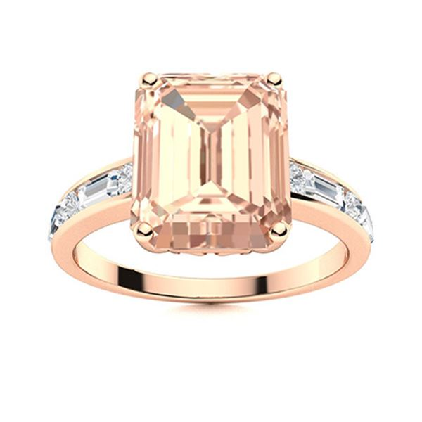 Natural 2.41 CTW Morganite & Diamond Engagement Ring 14K Rose Gold