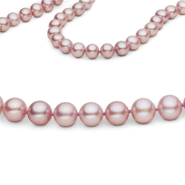 Lavender Freshwater 26 Inch Endless Pearl Necklace, 7.5-8.0mm