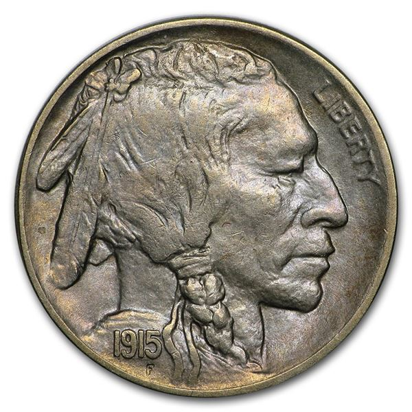 1915-D Buffalo Nickel AU