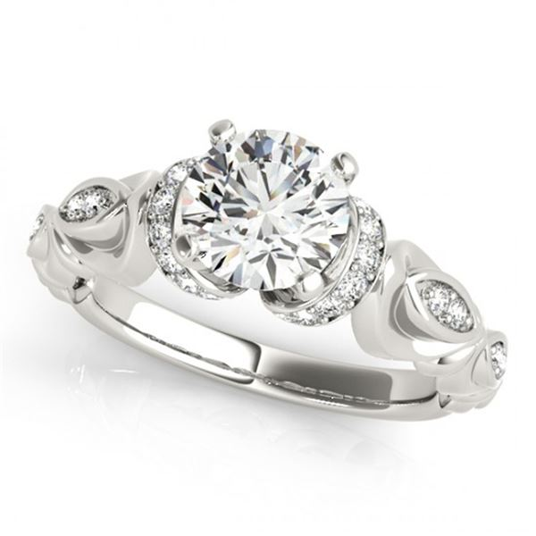 Natural 0.95 ctw Diamond Antique Ring 14k White Gold