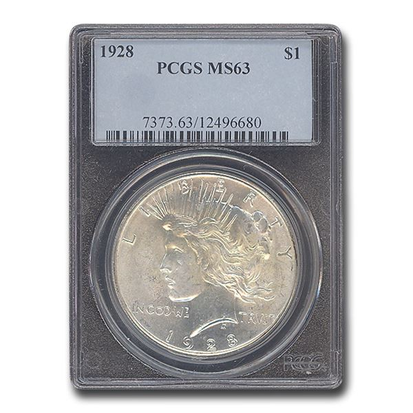 1928 Peace Dollar MS-63 PCGS