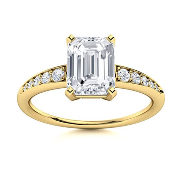 Natural 1.65 CTW Topaz & Diamond Engagement Ring 18K Yellow Gold