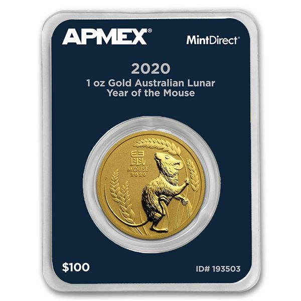 2020 AUS 1 oz Gold Lunar Year of the Mouse (MintDirect® Single)