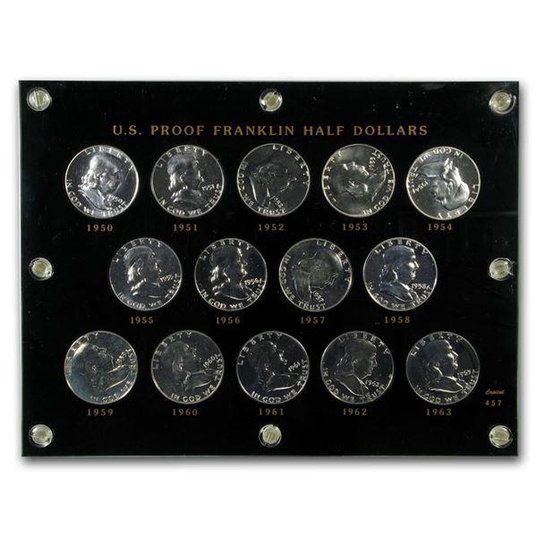 1950-63 Franklin Half Dollar Short Set BU (Capital Plastic)