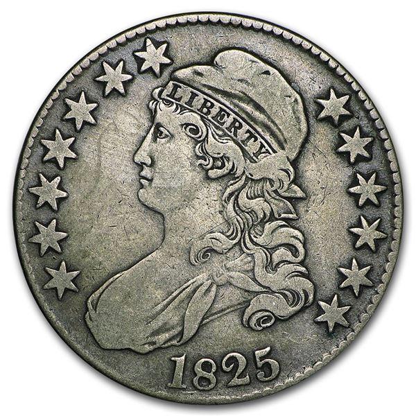 1825 Capped Bust Half Dollar VF