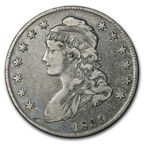 1835 Capped Bust Half Dollar VF