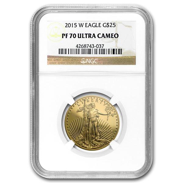 2016-W 1/2 oz Proof Gold American Eagle PF-70 NGC