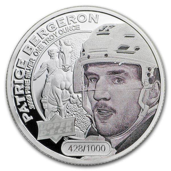2017 Grandeur 1 oz Silver Hockey: Bergeron (High Relief)