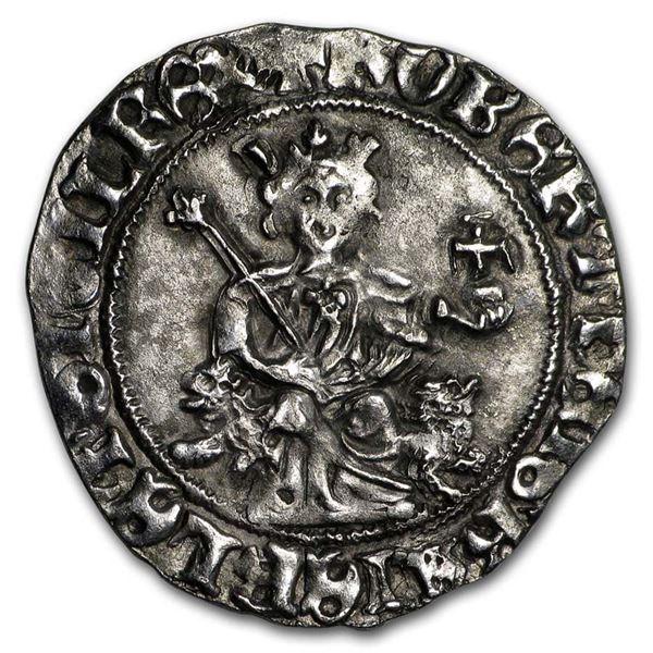 Italy Napoli Silver Gigliato (1309-1343 AD) (Crusades)