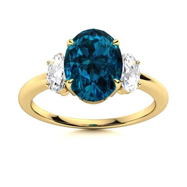 Natural 5.79 CTW Topaz & Diamond Engagement Ring 14K Yellow Gold