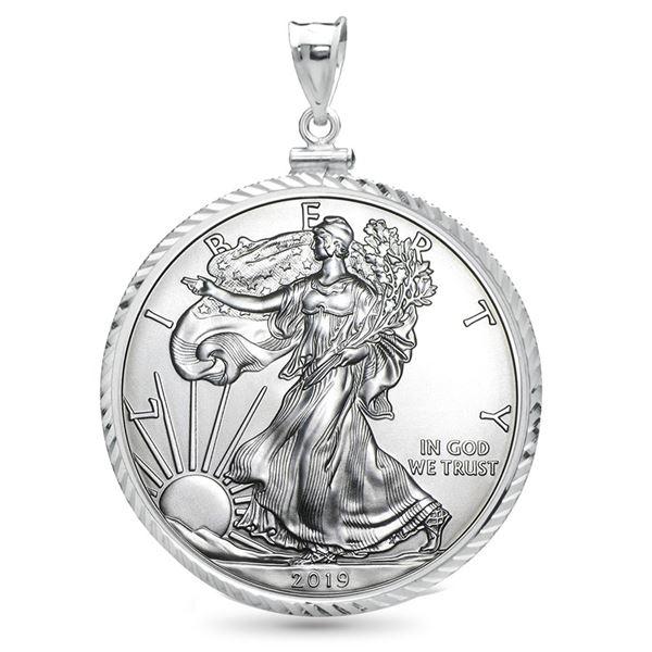 2019 1 oz Silver Eagle Pendant (Diamond-Cut ScrewTop Bezel)