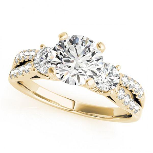 Natural 1.25 ctw Diamond 3 Stone Ring 14k Yellow Gold