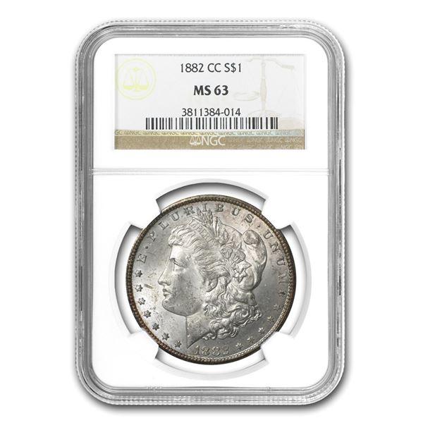 1882-CC Morgan Dollar MS-63 NGC