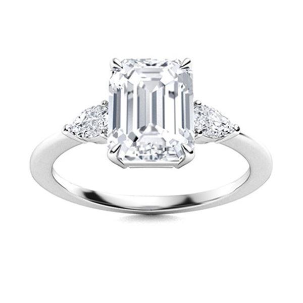 Natural 1.54 CTW Topaz & Diamond  Engagement Ring 18K White Gold