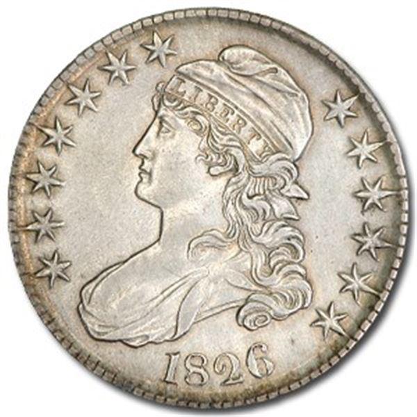 1826 Capped Bust Half Dollar AU